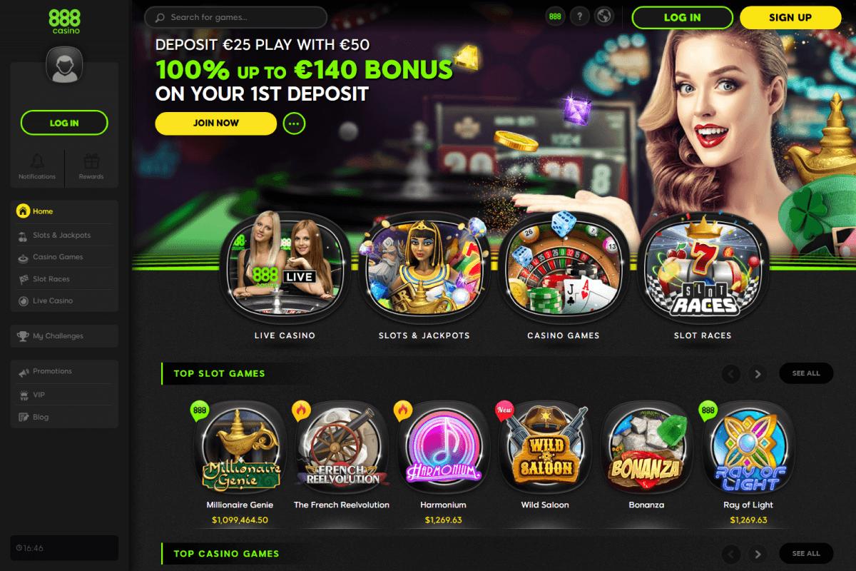 slots online casino 888
